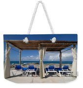 Beach Cabana With Lounge Chairs Weekender Tote Bag