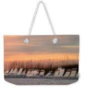 Beach Chairs At Dusk Weekender Tote Bag