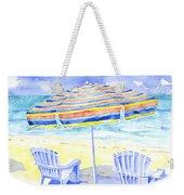 Beach Chairs Weekender Tote Bag