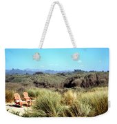 Beach Chairs With A View Weekender Tote Bag