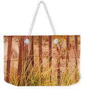 Beach Dune Fence At Cape May Nj Weekender Tote Bag