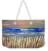 Beach Fence Weekender Tote Bag