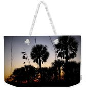 Beach Foliage At Sunset Weekender Tote Bag