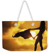 Beach Girl Weekender Tote Bag by Sean Davey