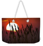 Beach Grass At Sunset Weekender Tote Bag