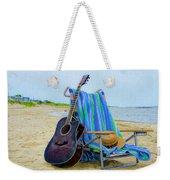 Beach Guitar Weekender Tote Bag