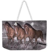 Beach Horse Trio Night March Weekender Tote Bag by Betsy Knapp