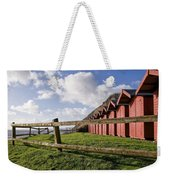 Beach Huts At Branscombe Weekender Tote Bag