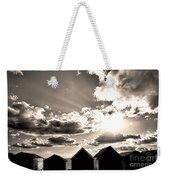 Beach Huts In Black And White Weekender Tote Bag