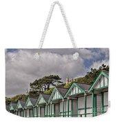 Beach Huts Langland Bay Swansea 3 Weekender Tote Bag