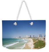 Beach In Tel Aviv Israel Weekender Tote Bag