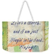 Beach Notes-e Weekender Tote Bag by Jean Plout