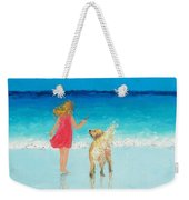 Beach Painting 'sunkissed Hair'  Weekender Tote Bag