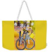 Beach Parking For Bikes Weekender Tote Bag