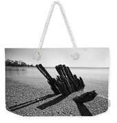Beach Pilings Weekender Tote Bag