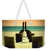 Beach Pylons Weekender Tote Bag