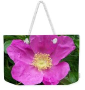 Pink Beach Rose Fully In Bloom Weekender Tote Bag