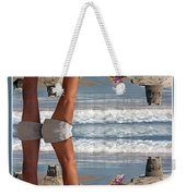 Beach Scene Weekender Tote Bag by Betsy Knapp