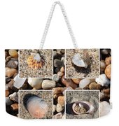 Beach Shells And Rocks Collage Weekender Tote Bag