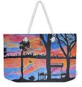 Beach Silhouette Weekender Tote Bag by Sonali Gangane