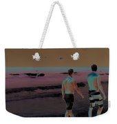 Beach Solar Series Xi Woman Swimming Usa Weekender Tote Bag
