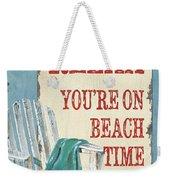 Beach Time 1 Weekender Tote Bag
