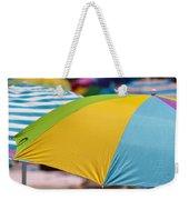 Beach Umbrella Rainbow 1 Weekender Tote Bag