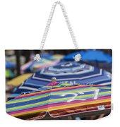 Beach Umbrella Rainbow 2 Weekender Tote Bag