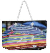 Beach Umbrella Rainbow 4 Weekender Tote Bag