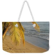 Beach Under Golden Palm Weekender Tote Bag