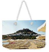 Beach View Of Lindos Weekender Tote Bag