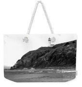 Beach View Of North Head Lighthouse Weekender Tote Bag