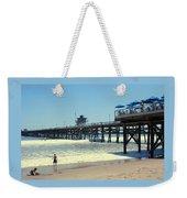 Beach View With Pier 1 Weekender Tote Bag