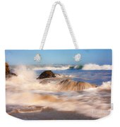 Beach Waves Smoothly Flowing Over The Rocks Fine Art Photography Print Weekender Tote Bag