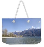 Beach With Mountain Weekender Tote Bag