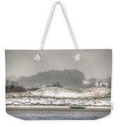 Beached Boat Winter Storm Weekender Tote Bag