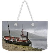 Beached Fishing Boat Weekender Tote Bag