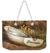 Beached Rowboat Weekender Tote Bag by Carol Leigh