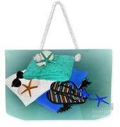Beachy Things - Aqua Blue Weekender Tote Bag