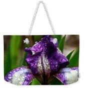 Beaded Iris Weekender Tote Bag