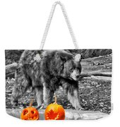 Bear And Pumpkins Too Weekender Tote Bag