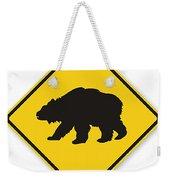 Bear Crossing Sign Weekender Tote Bag