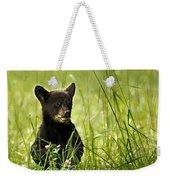 Bear Cub In Clover Weekender Tote Bag