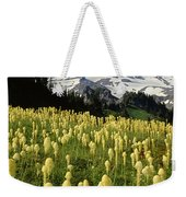 Bear Grass At Mt. Rainier - V Weekender Tote Bag
