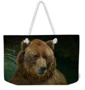 Bear In The Pool Weekender Tote Bag
