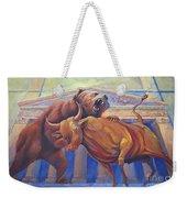 Bear Vs Bull Weekender Tote Bag