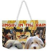 Bearded Collie Art Canvas Print - Singin In The Rain Movie Poster Weekender Tote Bag