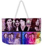 Rainbow Beatles Design Trio Weekender Tote Bag