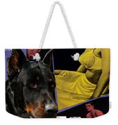 Beauceron Art Canvas Print - Psycho Movie Poster Weekender Tote Bag