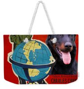Beauceron Art Canvas Print - The Great Dictator Movie Poster Weekender Tote Bag